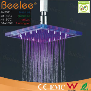 Water Power Temered Glass LED Shower Head