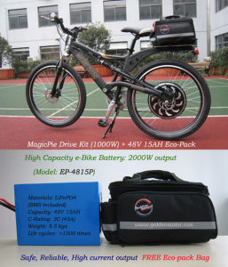 1000W Electric Bicycle with 48V 15ah Li-on Battery pictures & photos