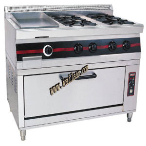 4-Burners Gas Range with Gas Griddle & Gas Oven (GEF6)