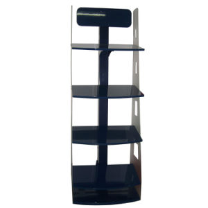 Acrylic Tier Island Free Standing Flooring Display Rack Shelves pictures & photos