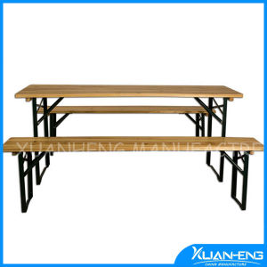 Wooden Beer Table with Foldable Legs pictures & photos