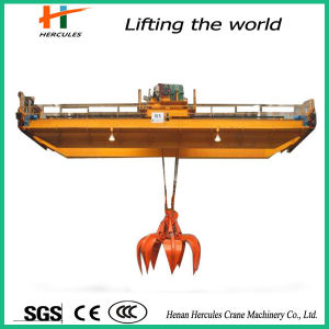 10~100t Workshop Double Girder Overhead Crane with Grab pictures & photos