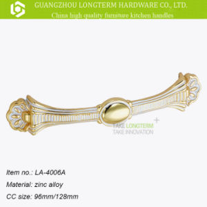 Classical Ivory Wrought Design Zamak Drawer Handle pictures & photos