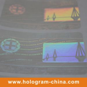 3D Laser Transparent Security Hologram Label pictures & photos