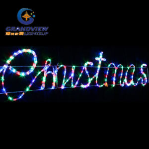 Animated 290cm Wide LED Multi Colours ′merry Christmas′ Motif Rope Lights pictures & photos