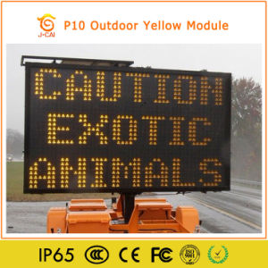 P10 Outdoor Single Color LED Moving Message Board pictures & photos