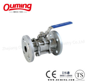 3PC Flanged Ball Valve with Lock pictures & photos