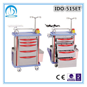 High Quality ABS Medical Emergency Trolley pictures & photos