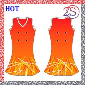 Custom Made Fashion Women′s Netball Dress pictures & photos