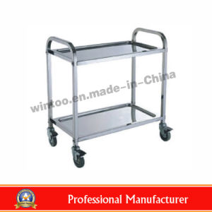 Top Rated Stainless Steel Dining Cart Of 2 Layers (RPD L2)