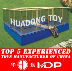 Factory Customized of Kids Outdoor/Indoor Playground Slide Hot Sell Preschool Equipment Amusement Park -Trampoline New Model 2015 HD15b-129c pictures & photos