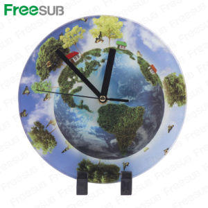 Freesub Blank Sublimation Glass Photo Frame with Clock (BL-27) pictures & photos