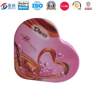 Embossing Printed Metal Candy Box with Heart Shape for Wholesale pictures & photos
