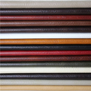 Top Quality Crackle Pattern Waxy Synthetic PVC Leather for Furniture pictures & photos