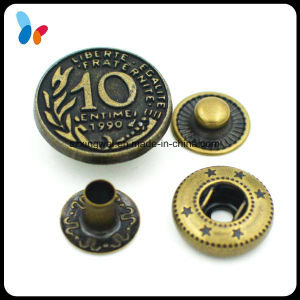 Custom Embossed Vintage Western Metal Spring Snap Button pictures & photos
