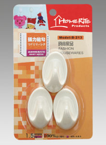 Plastic Adhesvie Hook (HK003) for Household Products
