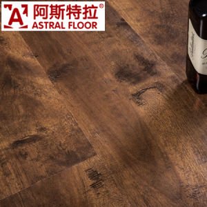 12mm Matte Embossment Laminate Flooring (V-Groove) / (AS3008-33) pictures & photos