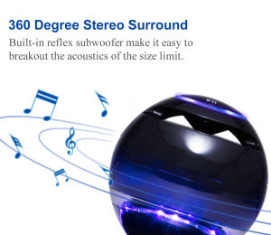 Multicolor LED 360 Degree and Portable Levitating Bluetooth Speakers-Black pictures & photos