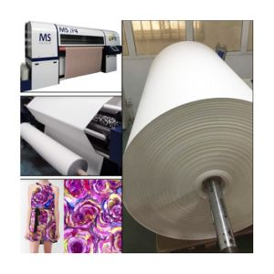 60GSM Jumbo Roll Fast Dry Non-Curled Sublimation Transfer Paper for High Speed Inkjet Printer Ms-Jp/Reggiani/Dgi pictures & photos