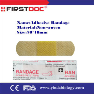 Medical Top Quality Adhesive Bandage, 70*18mm, Non-Woven pictures & photos