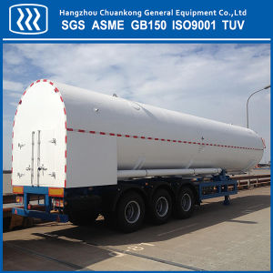 Cryogenic Liquefied Oxygen Nitrogen Argon Gas Tank Semi Trailer pictures & photos