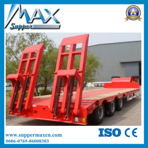 3 Axle 40′′ Flatbed Semi Trailer pictures & photos
