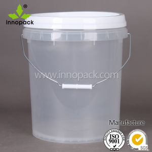China Wholesale 20l Food Grade Plastic Clear Bucket With