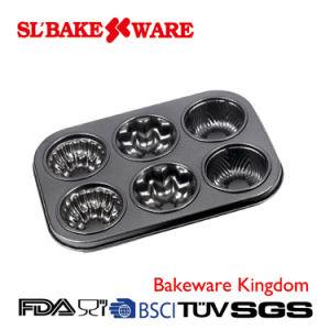 6 Cup Multi Bundt Pan Carbon Steel Nonstick Bakeware (SL-Bakeware) pictures & photos