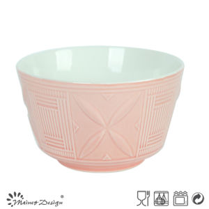 14cm Ceramic Bowl Embossed Design Two Tone pictures & photos