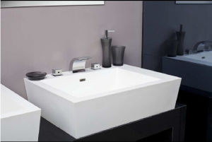 Solid Surface Acrylic Bathroom Sink pictures & photos