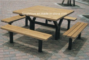 Park Bench, Picnic Table, Cast Iron Feet Wooden Bench, Park Furniture FT-Pb040 pictures & photos