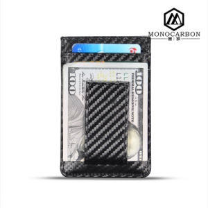 New Hot Products RFID Blocking Carbon Fiber Pattern Leather Card Wallet pictures & photos