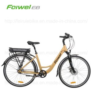"28"" Belt-Drive Electric Bicycle with Rear Rack Battery (TDB11Z) pictures & photos"