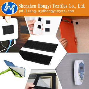 Strong Sticky Fastener Self Adhesive Velcro Hook & Loop Black pictures & photos