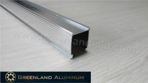 Anodized Silver Aluminium Braketing Curtain Track for Honeycomb Shade pictures & photos