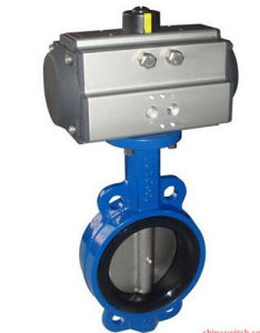 Wafer Type Butterfly Valve with Pneumatic Actuator pictures & photos