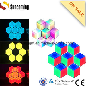Hexagon 3D LED Wall Screen Hotel Restaurant Lighting Decoration pictures & photos