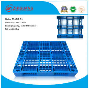 Warehouse Storage 1200*1200*155mm 4 Way Plastic Pallet Grid Plastic Pallet with 3 Runners pictures & photos