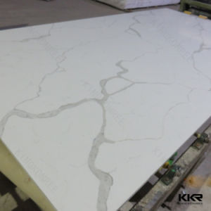 Carrara White Quartz Stone, Engineered Artificial Quartz pictures & photos