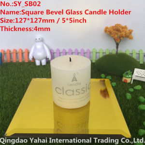 4mm Yellow Glass Candle Holder pictures & photos