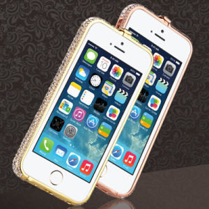 New Luxury Crystal Rhinestone Bling Metal Diamond Frame Bumper Case Cover for iPhone6 pictures & photos