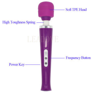 USB Erotic AV Vibrator Powerful Rechargeable Body Massager Sex Toys pictures & photos