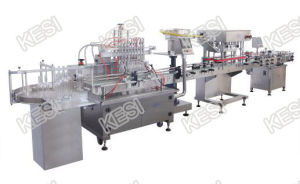 Automatic Time Gravity Liquid Filling Machine pictures & photos