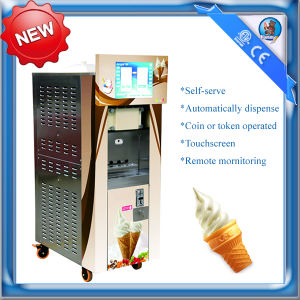 Coin Operated Automatic Ice Cream Machine with Remote Control HM736S pictures & photos