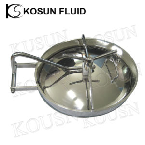 Stainless Steel Sanitary Manhole Cover Oval Manway pictures & photos
