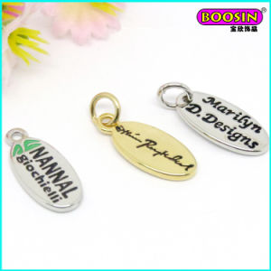 Factory Custom Design Metal Engraved Logo Tag Pendant pictures & photos