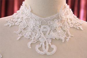 High Collar Beading Ball Bridal Floor Length Wedding Dress pictures & photos