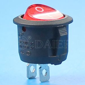 White/Black/Red Actuator Colored Round Kcd11 Rocker Switch pictures & photos