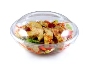 Transparent Round Plastic Instant Food Container with Lid