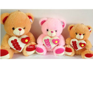 Plush Bear Toy with Heart